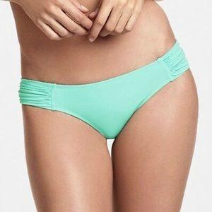 Victoria's Secret Knockout Seafoam Ruched Bottoms